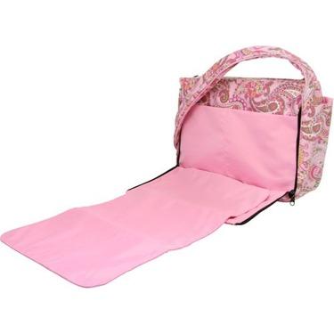 Bumble Bags Kimberly Tote Bag Pink Paisley