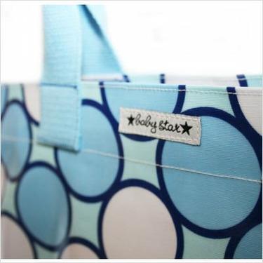 Rock the Tote Diaper Bag in Tag Blue