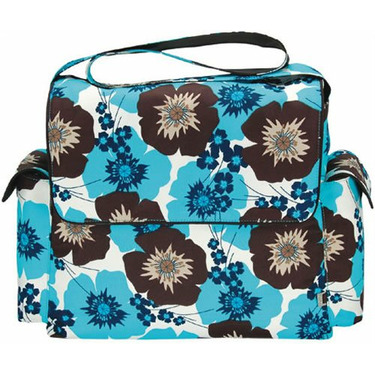 OiOi Messenger Diaper Bag - Pansy
