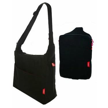 phil&teds Diddie Bag w/ Minnie Diddie - Black