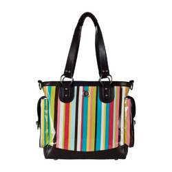Fleurville Lexie Tote Diaper Bag in Cocoa Stripe