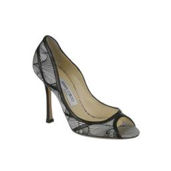 Jimmy Choo Hardy Printed Silk Satin Shoe