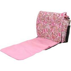 Bumble Bags Jessica Messenger Backpack Pink Paisley