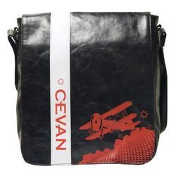 Cevan Academy Pilot Messenger Bag, Black