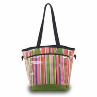 Sling Tote Diaper Bag - Pink Stripe