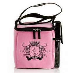 Baby Phat Bottle Tote Bag in Velour Pink