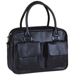 Lassig Fashion Urban Eco-Friendly Diaper Bag, Faux Leather Black