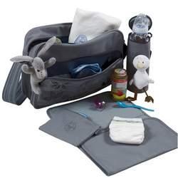 Lassig Fashion Squarebag Eco-Friendly Diaper Bag, Stones Choco