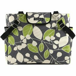 Charcoal Berry Lexington Diaper Bag