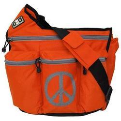 Diaper Dude Peace Diaper Bag - Orange