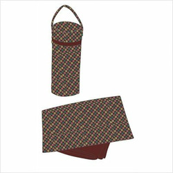 Laminated Buckle Bag - Nuts and Bolts Chocolate