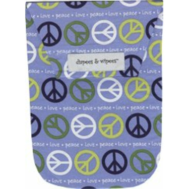 Diapees and Wipees Accessory Bag - Peace Baby Blue