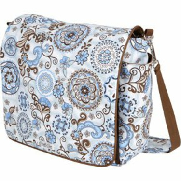 Jessica Messenger Backpack Diaper Bag in Starry Sky