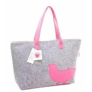 Super Lover Pink Chick Tote Handbag Bag Gray S11