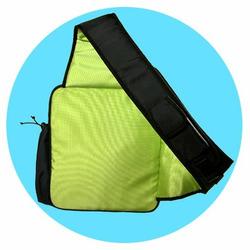 O Yikes Designer Slingback Diaper Bag in Blue Green