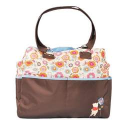 "Winnie the Pooh ""Meadow Pattern"" Diaper Tote Bag - pink/brown, one size"