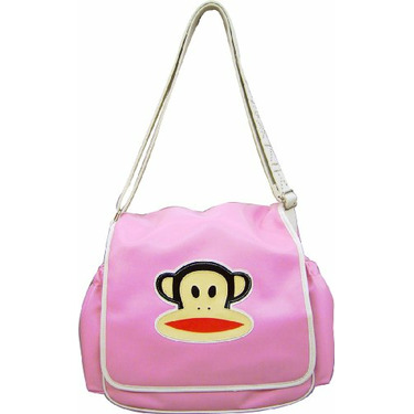 Paul Frank Messenger Style Diaper Bag, Pink