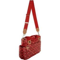 Storksak Kate Large Shoulder Diaper Bag,Retro Dot Red,one size