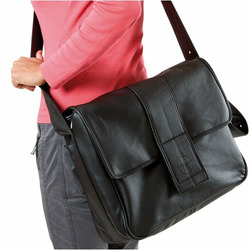 Lassig Fashion Messenger Eco-Friendly Diaper Bag, Faux Leather Brown