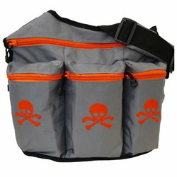 Diaper Dude Skull and Crossbones Diaper Bag - Gray