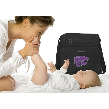 K-State Kansas State University Logo College Logo Diaper Bag - Baby Bag - BEST Baby Shower GIFT for New Dad, Father or New Mom Mother GIFTS