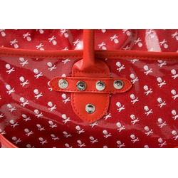 Rock N'Moms Diaper Tote Bag Red Skulls- Nice Gift for the Chic Mom!