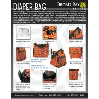 North Carolina State Wolfpack Black Diaper Bag