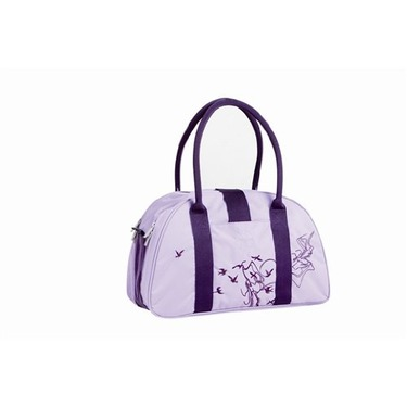 Lassig Shoulder Eco-Friendly Diaper Bag, Birds Viola