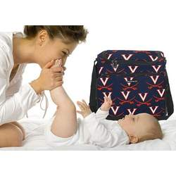 UVA Logo University of Virginia Diaper Bag - Baby Bag for New Dad Father or Mom NEW Mother Baby Shower Gift Idea
