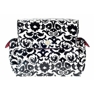 MotherShip Diaper Bag in Black Bouquet