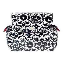 MotherShip Diaper Bag in Black Bouquet