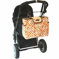 Black Baby Pink Lexington Diaper Bag