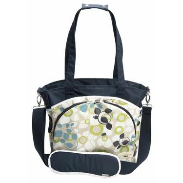 Mode Diaper Tote Bag in Blue Vine