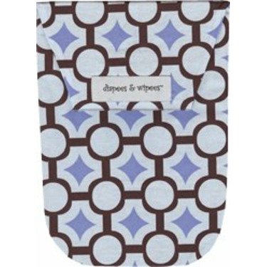 Diapees and Wipees Accessory Bag - Mod Maze Blue