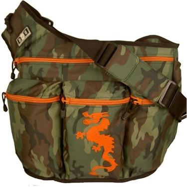 Diaper Dude Messenger Diaper Bag in Camouflage - Dragon