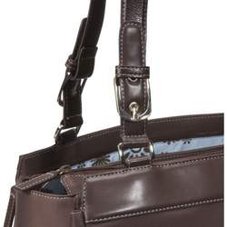 Chocolate Brown Orchid Diaper Bag by Amy Michelle