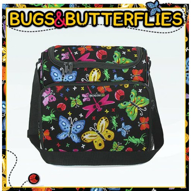 Bugs & Butterflies Diaper Bag - Baby Bag for New Dad Father or Mom NEW Mother Baby Shower Gift Idea