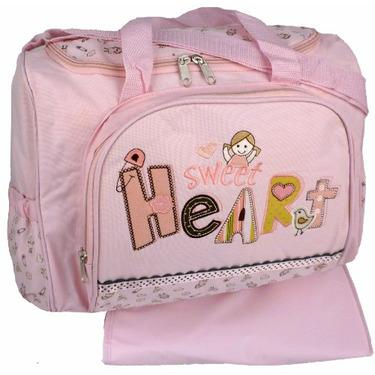 Baby Essentials Pink Sweet Heart Baby Girl Diaper Bag