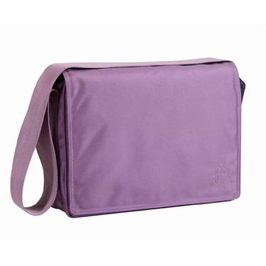 Lassig Small Messenger Eco-Friendly Diaper Bag, Glam Lavender