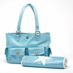 Cargo Diaper Bag in Baby Blue
