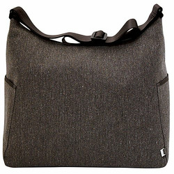 Chocolate Herringbone Hobo Diaper Bag