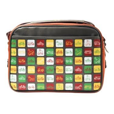 Cevan City Ride Diaper Bag, Orange/Gray
