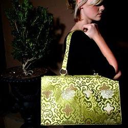 Lime Morocco Diaper Bag