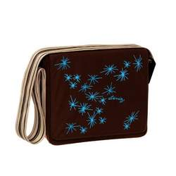 Lassig Messenger Eco-Friendly Diaper Bag, Stars Choco