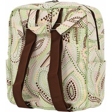 Bumble Bags Madeline Hanging Stroller Backpack Lemon-Lime Dot