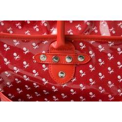 Jett's Designer Red & White Skull Diaper Bag