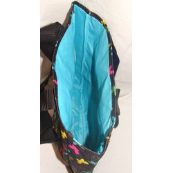 Jansport Classic Tote Bag Black Butterfly Party