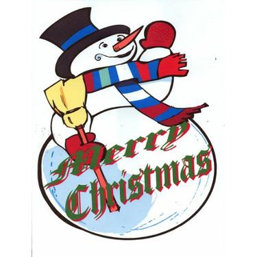 Snowman Merry Christmas Tote Bag Natural