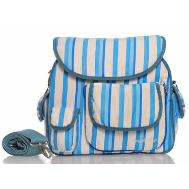 Baby Bee Bags Eglan Blue Stripe Desinger Diaper Tote