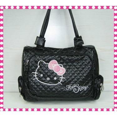 Hello Kitty Black Shoulder / Messenger Bag
